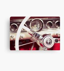 Ford Mustang Steering Wheel Canvas Print