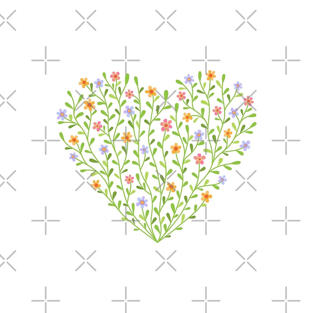 Flowery heart by AnMi