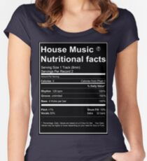 House Music Nutritional Facts Women's Fitted Scoop T-Shirt