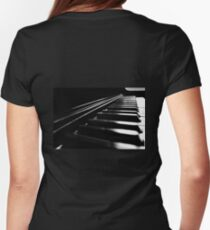 Piano Keys Womens Fitted T-Shirt