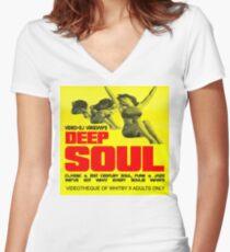 DEEP SOUL Women's Fitted V-Neck T-Shirt