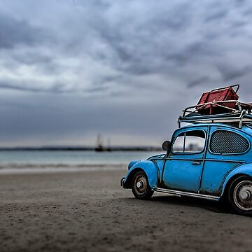 Little Blue Beatle ~ In Search of Surf ~ VII  by BlueChairGal