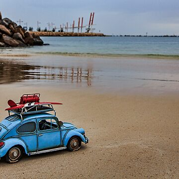 Little Blue Beatle ~ In Search of Surf ~ IV  by BlueChairGal