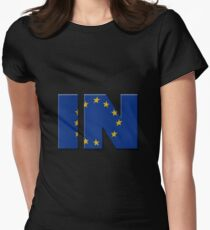 British In/Out EU referendum. IN with European Union flag. T-Shirt
