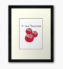 Vegetables tomatoes nature garden Framed Print