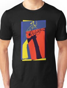 Retro Pop Art Guitarist Unisex T-Shirt