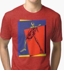 Pop Art Skeleton Rocker Tri-blend T-Shirt