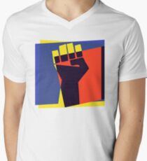 Black Power Fist Men's V-Neck T-Shirt