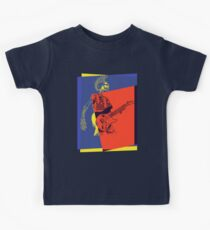 Mohawk Punk Rocker Guitarist Kids Tee