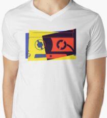 Pop Art Cassette Tape Men's V-Neck T-Shirt