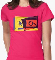 Pop Art Cassette Tape Womens Fitted T-Shirt