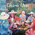 Tea In The Garden With Friends - Thank You Cards by Ballet Dance-Artist