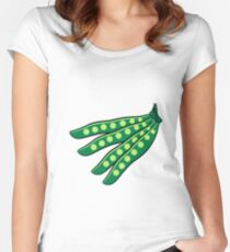 Vegetables beans organic garden Women's Fitted Scoop T-Shirt