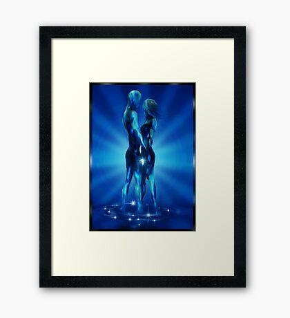 Ocean Blue. Framed Print