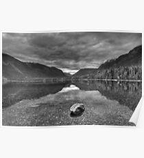 Lake MacDonald in grey Poster