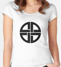 Celtic Shield knot, Amulet, Germanic, Protection, Celtic, Women's Fitted Scoop T-Shirt