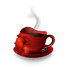 Red Cup Of Coffee by Olga Altunina
