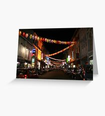 Chinatown in Singapore Greeting Card