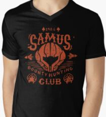 Samus Bounty Hunting Club Mens V-Neck T-Shirt