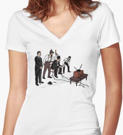 Retro Gamers Women's Fitted V-Neck T-Shirt