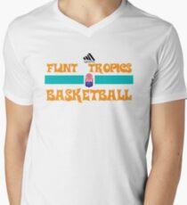 Flint Tropics Basketball Semi Pro Men's V-Neck T-Shirt