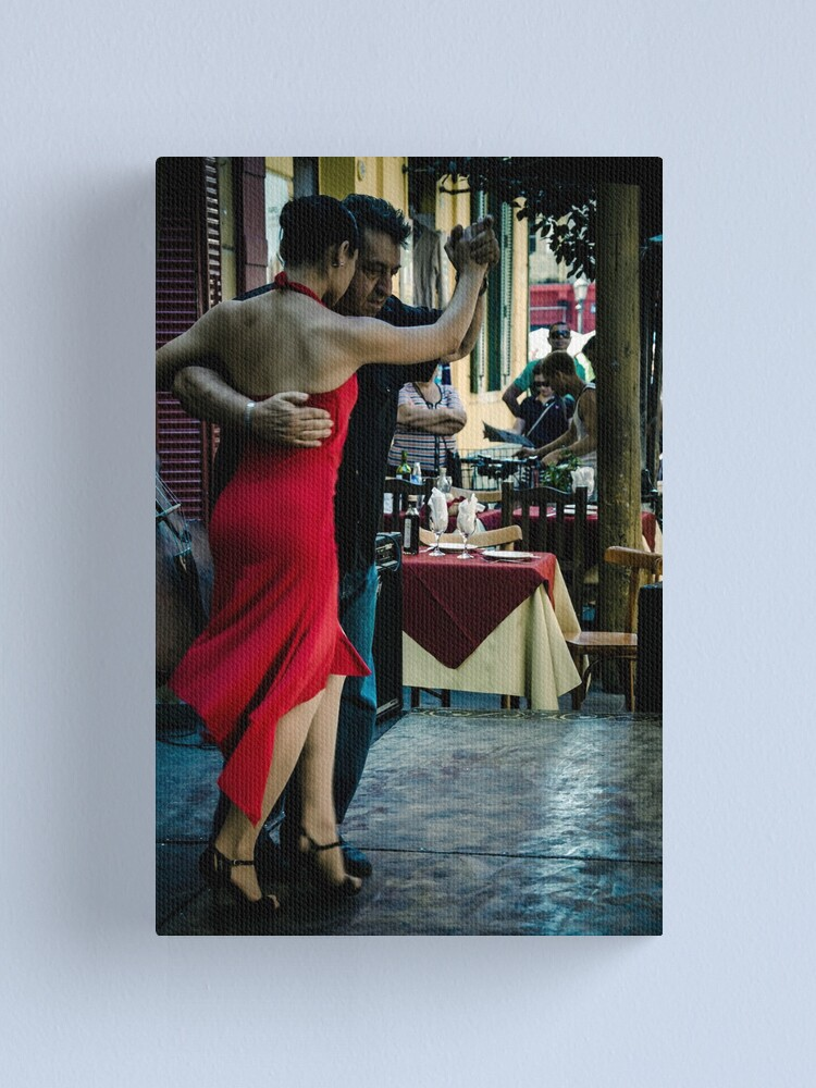 Alternate view of Red dress Canvas Print