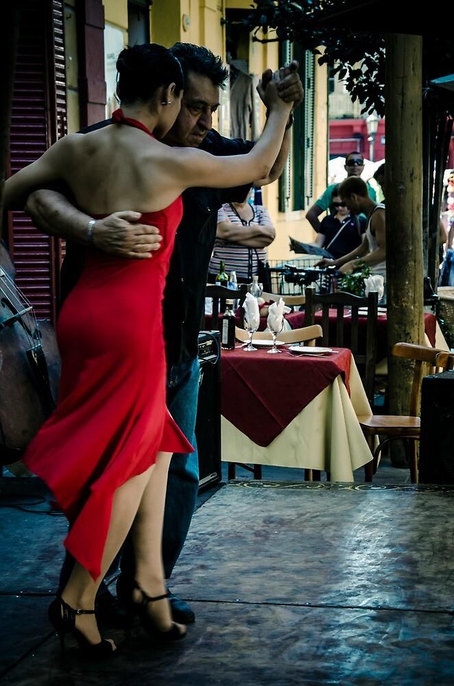 Red dress by Andrea Rapisarda