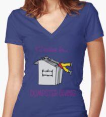 I'd rather be dumpster diving (Eva's color special) Women's Fitted V-Neck T-Shirt