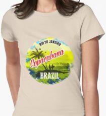 Beach Copacabana Womens Fitted T-Shirt