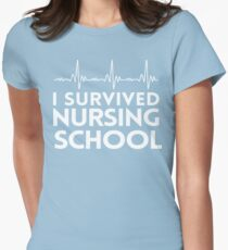 I Survived Nursing School Women's Fitted T-Shirt