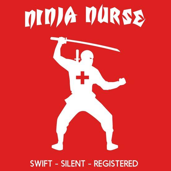 Quot Ninja Nurse Swift Silent Registered Quot T Shirts