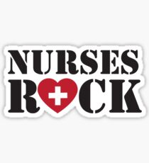 Nurses Rock Sticker