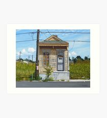 Shotgun House Art Print