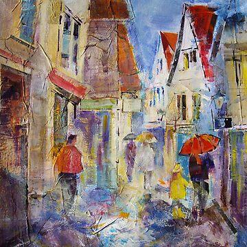 Shopping In The Rain - Umbrellas Art Gallery by ballet-dance