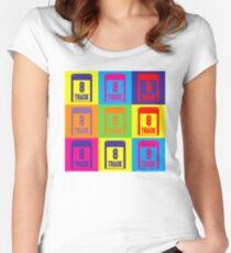 8 Track Pop Art T-Shirt Women's Fitted Scoop T-Shirt
