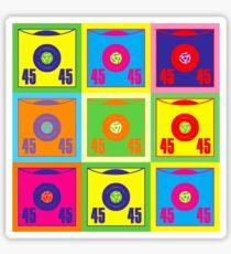 45 Record Pop Art Sticker