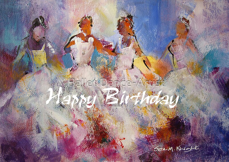 """Flamenco Dancers Painting – Happy Birthday Card"" Greeting ..."