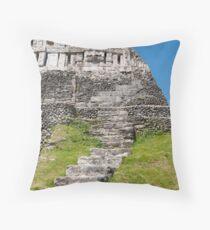 Xunantunich Mayan Ruins In Belize  Throw Pillow