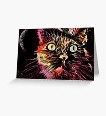 Demon Cat Grußkarte