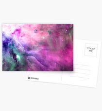 Orion Nebula [Pink Clouds] | Galaxy Mathematix Postcards