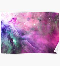 Orion Nebula [Pink Clouds]   Galaxy Mathematix Poster