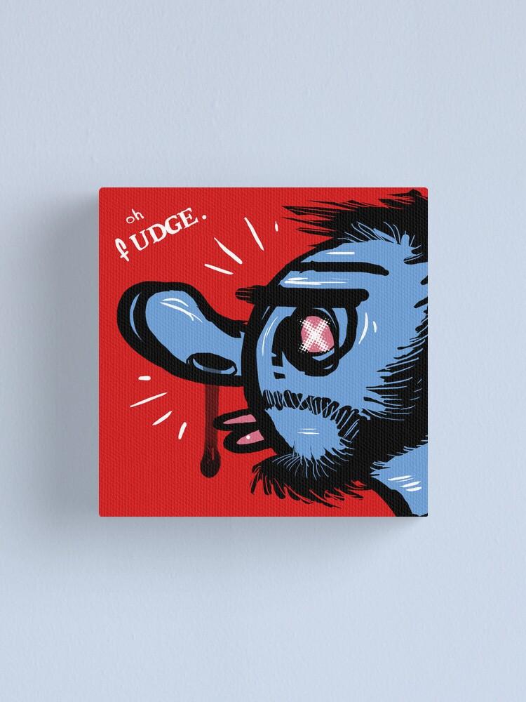 Alternate view of Oh Fudge. Canvas Print