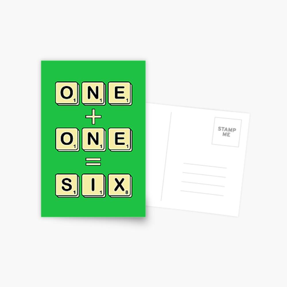 Scrabble Math Postcard