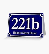 221b - Holmes Sweet Home Greeting Card
