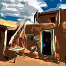 Taos Pueblo Abstract by K D Graves Photography