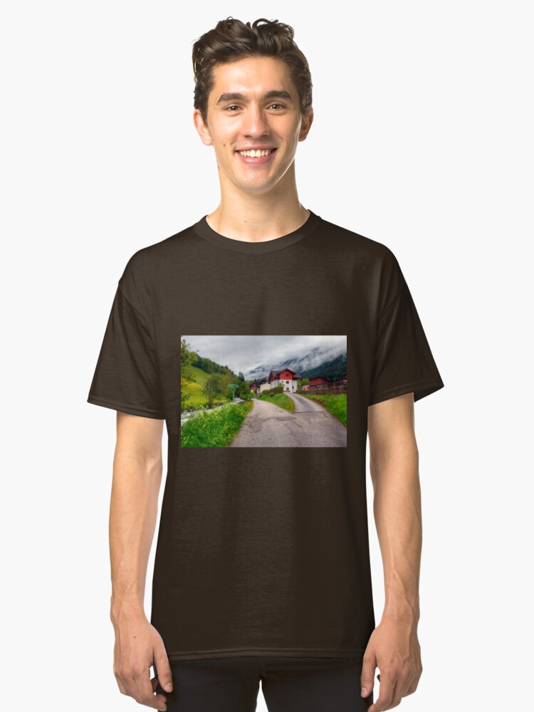 Spring meets winter in the Alps Classic T-Shirt Front