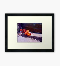 Sleeping Person Framed Print