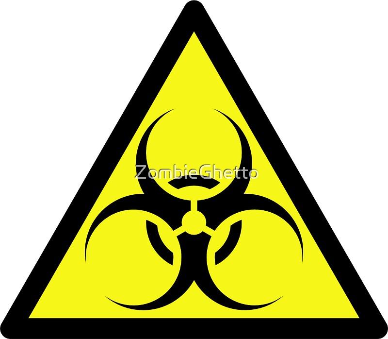 Quot Zombie Apocalypse Hazmat Sign By Zombie Ghetto Quot Stickers