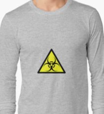 ZOMBIE APOCALYPSE HAZMAT SIGN by Zombie Ghetto Long Sleeve T-Shirt