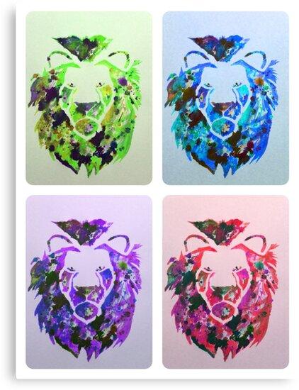 Brave lions of pop art by MrC2015